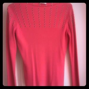 Hot pink cache sweater
